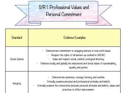 Standards for Registration Evidence Log