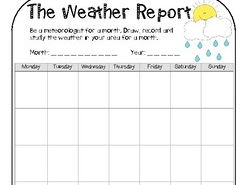 Weather Unit for Early Years- includes experiments