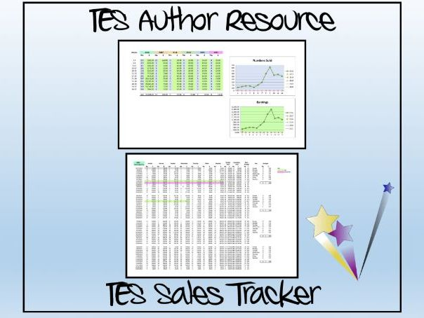 TES Authors Excel Sales and Accounts Tracker