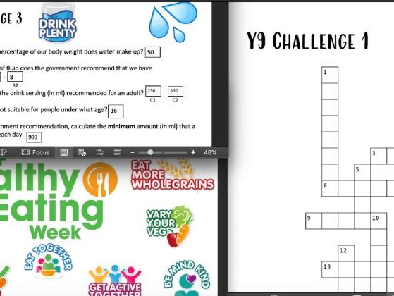 Healthy Eating Week Challenges and PPT