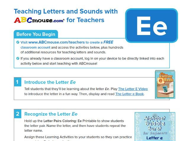 Teaching the Letter Ee with ABCmouse