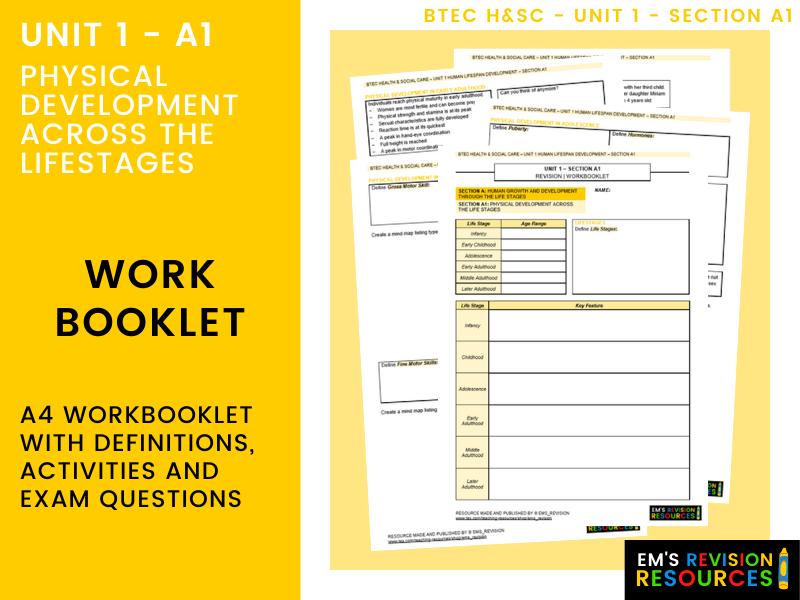 HSC | U1A1 PHYSICAL DEVELOPMENT [WORKBOOKLET]