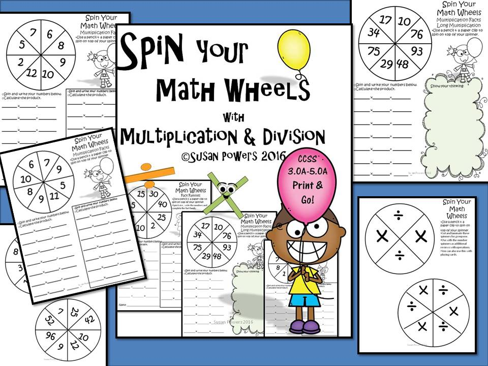 Spin Your Maths Wheels with Multiplication & Division