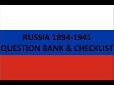 Russia 1894–1941- Question Bank & Revision Checklist