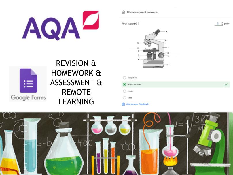 AQA Combined Science B1.1 Foundation Google Form