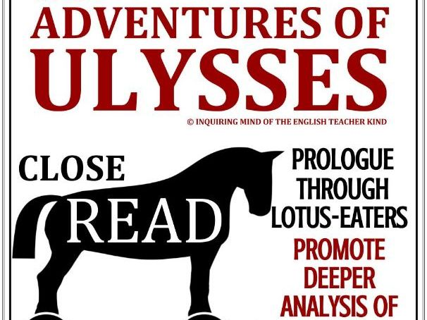 "The Adventures of Ulysses: Close Reading Worksheet (Prologue through ""Lotus Eaters"")"