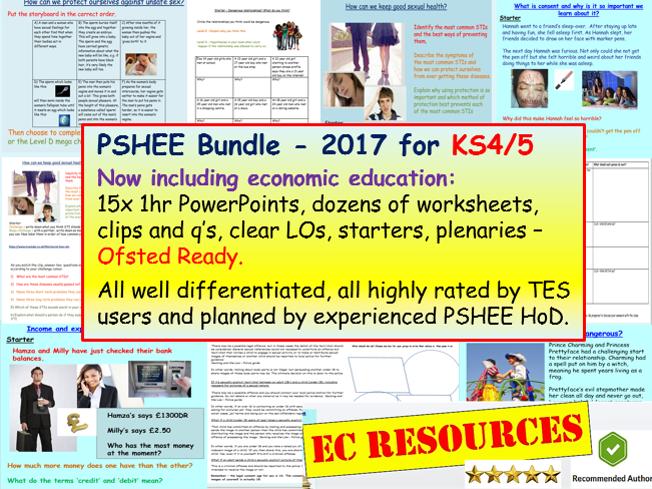 PSHEE / PSHE KS4 / KS5