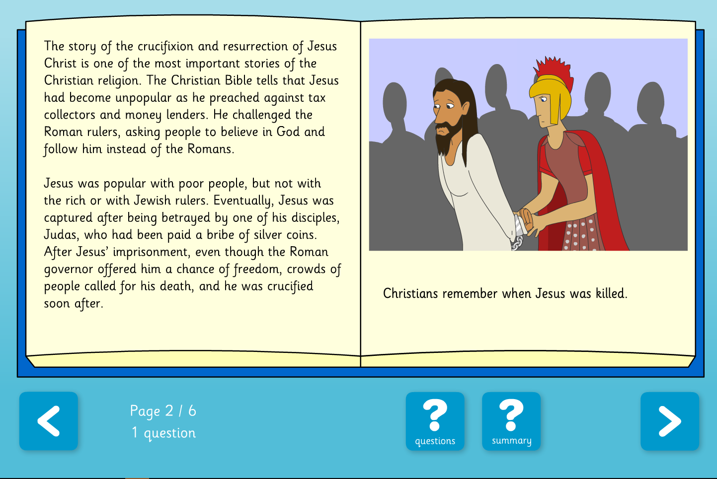 About Easter Interactive Comprehension Book - Reading Level B - Easter KS2