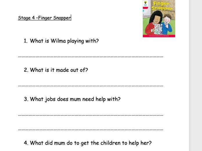 Oxford Reading Tree Stage 4 Comprehension Decode and Develop Pack A