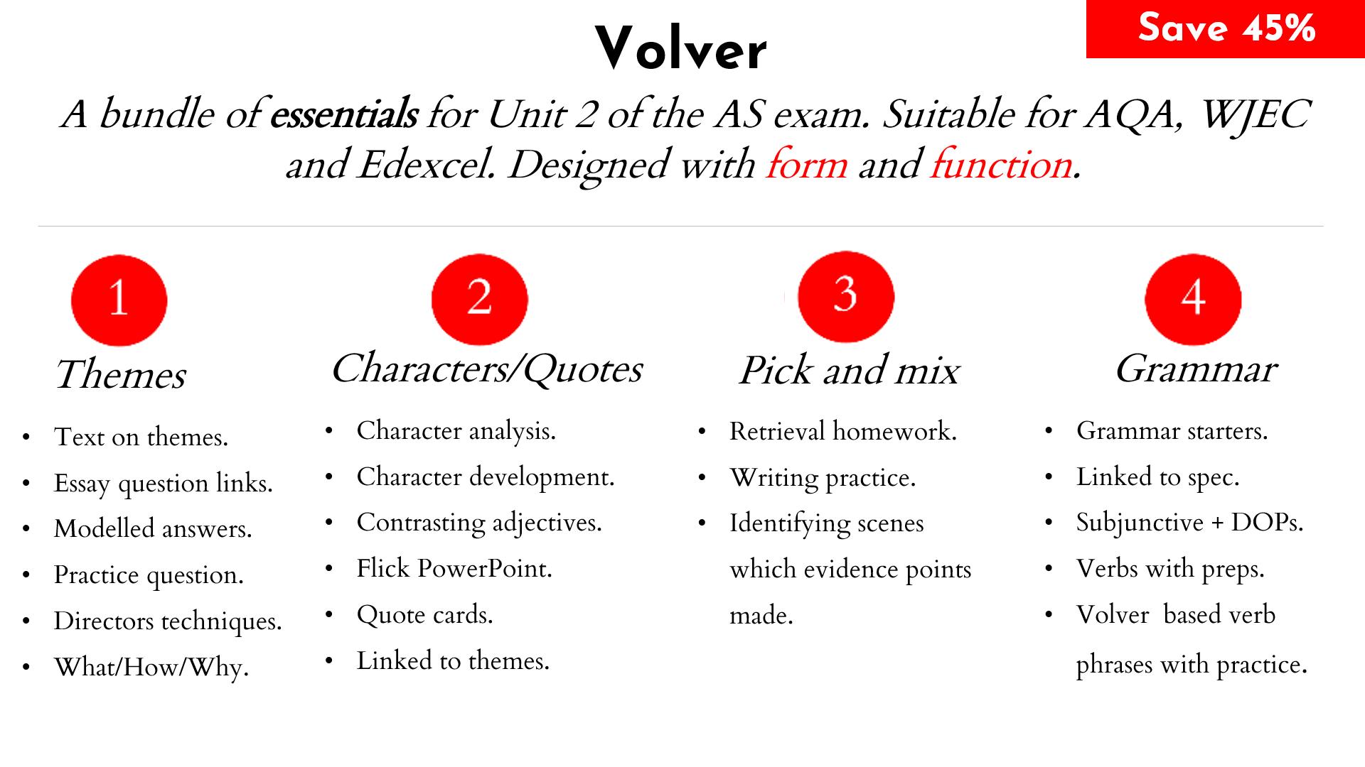 Volver : Essentials