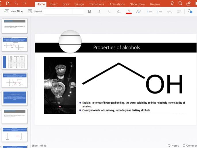 Physical properties and classification of Alcohols
