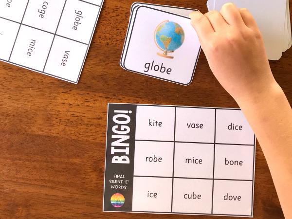 CVCe Final Silent 'e' Word BINGO Game