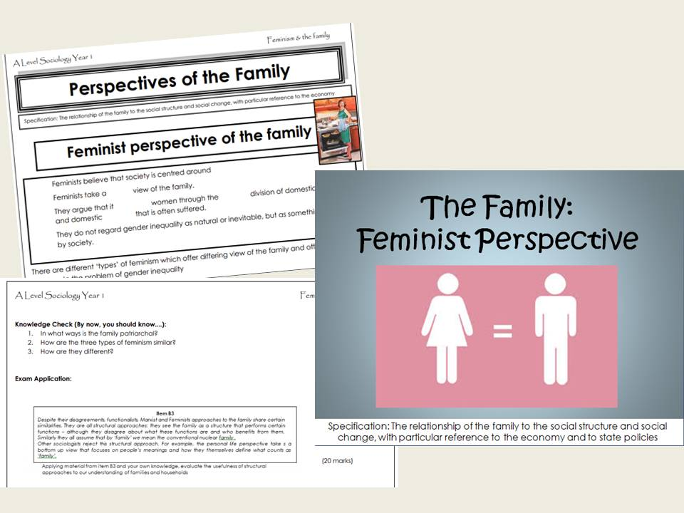 AQA Sociology - Year 1 -  Families & Households - Feminism & the Family