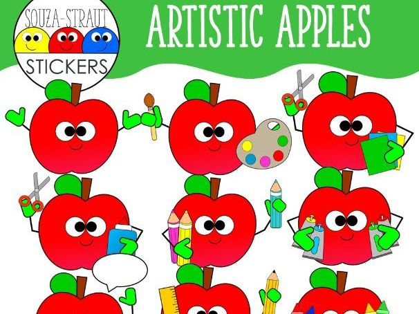 Artist Apples Clip Arts