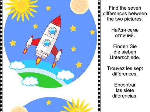 Find the Differences Visual Puzzle - Space Exploration