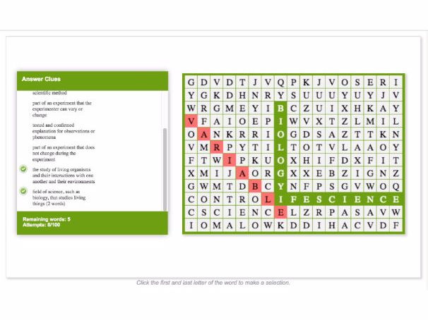 WORD SEARCH: The Science of Biology