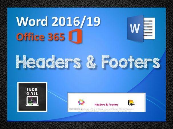 Headers & footers in Microsoft Word