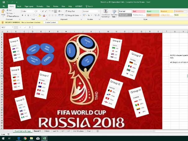 World Cup 2018 Spreadsheet Project Resource Pack