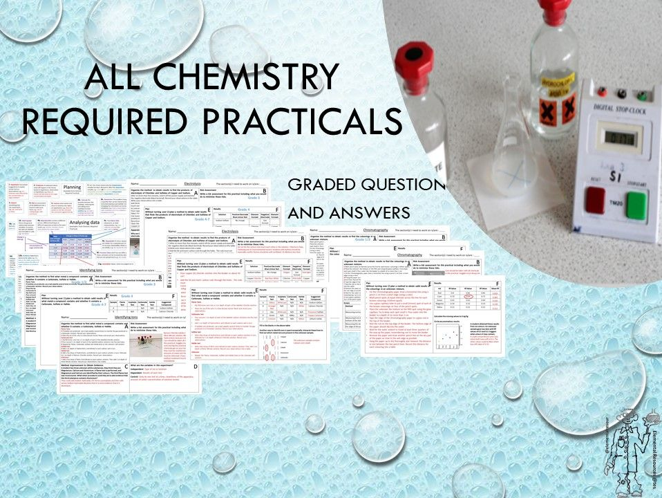 Chemistry Required Practical Worksheets with 9-1 Graded Questions and Answers