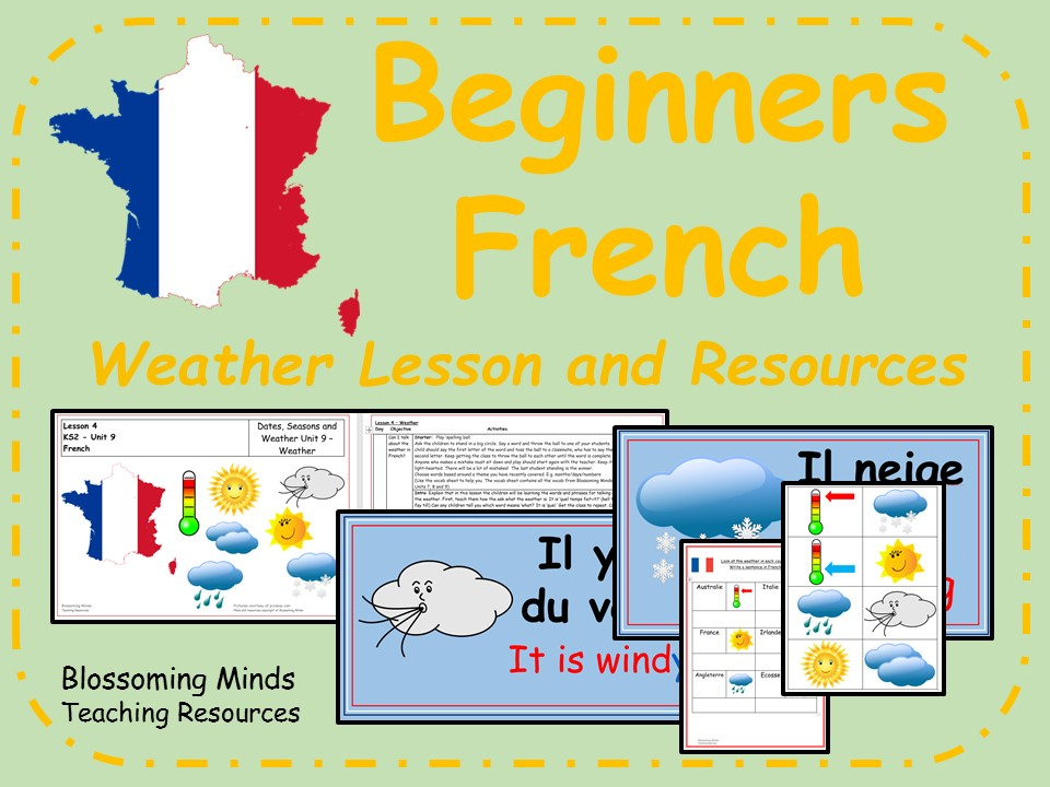 French Lesson and Resources - KS2 - Weather