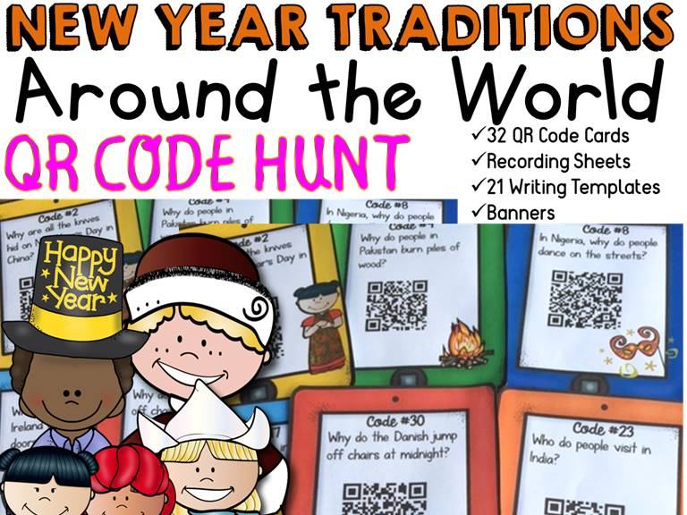 New Year Traditions QR Code Hunt