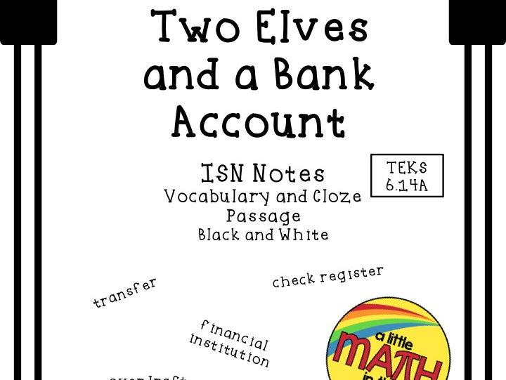 Financial Literacy - Checking Account ISN Notes