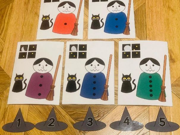 Count A Coven of Witches: A numeral and quantity matching resource