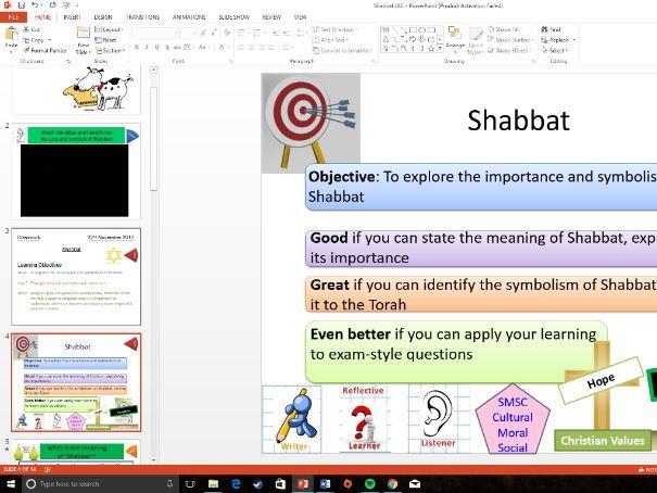 WJEC Eduqas: Study of Judaism: Whole Lesson on Shabbat