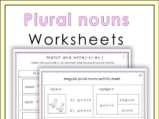 Plural nouns worksheets
