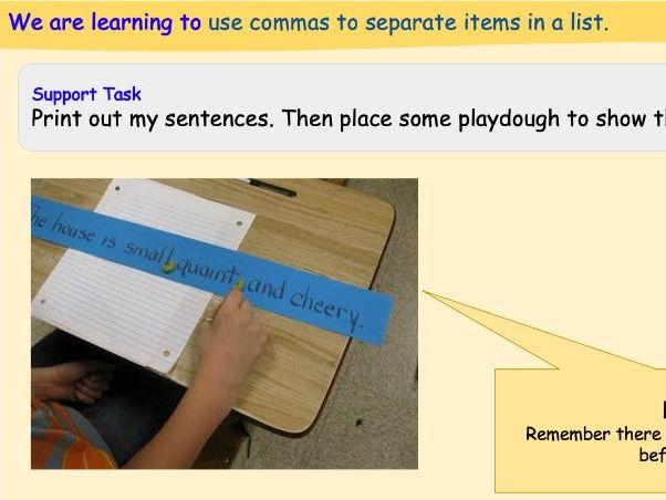 Differentiated Activities for Teaching Commas