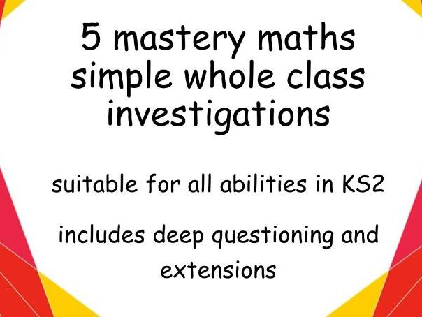 5 maths mastery investigations KS2