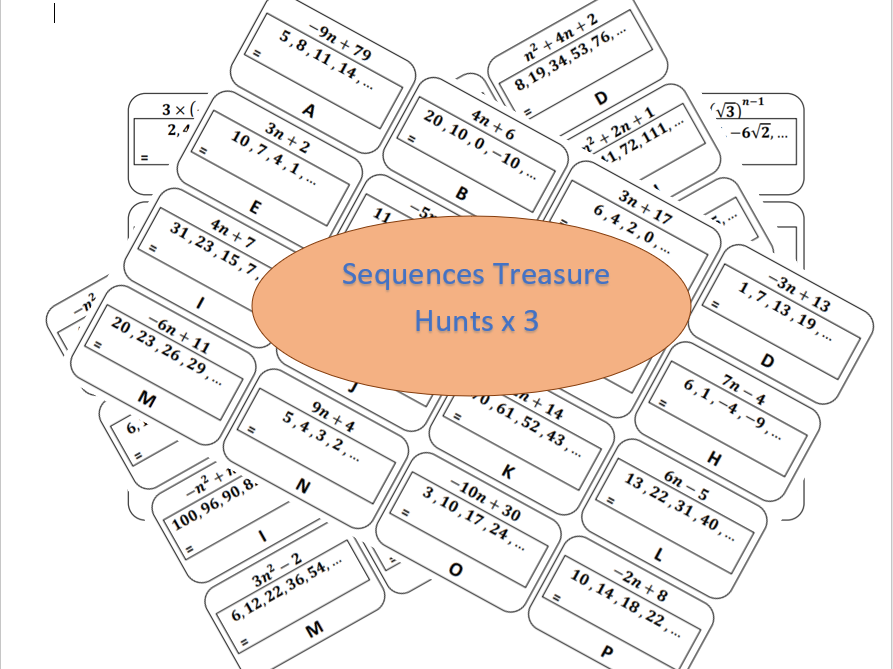 Sequences Treasure Hunts x3