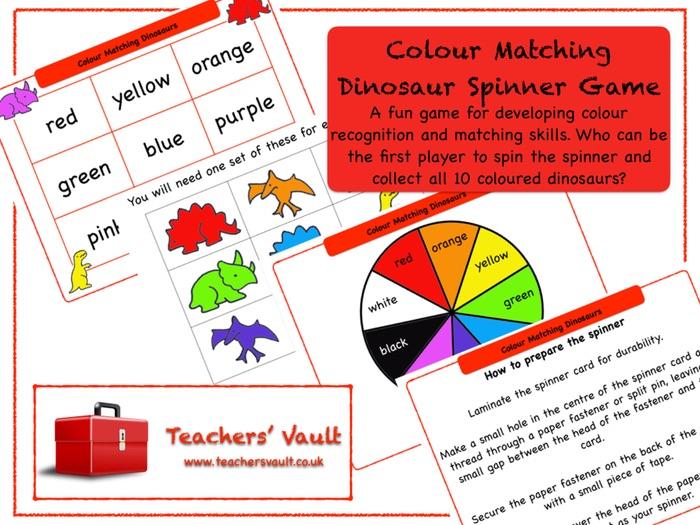 Colour Matching Dinosaur Spinner Game