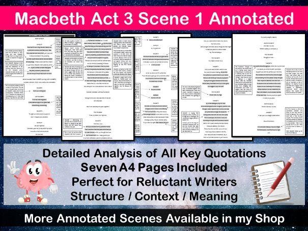 Macbeth Act 3 Scene 1 Annotated