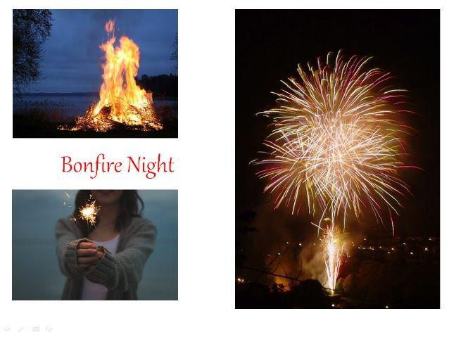 Bonfire Night, Bonfire Night Writing Prompts, Guy Fawkes Vocabulary + 31 Fun Teaching Activities