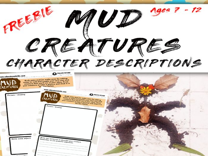 Mud Creatures Character Description FREEBIE