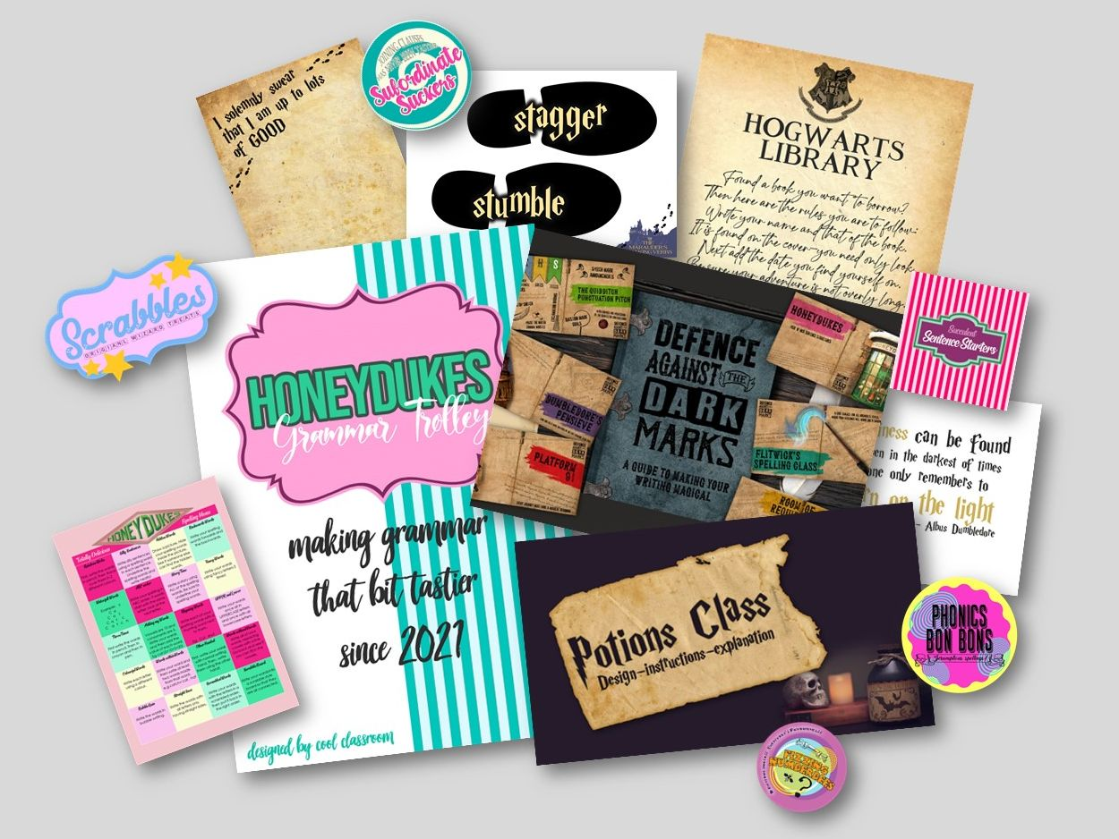Harry Potter classroom activities, posters, printable, lesson ideas