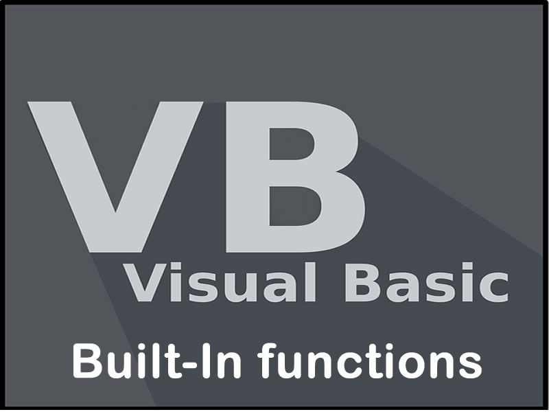 Visual Basic Built-In functions