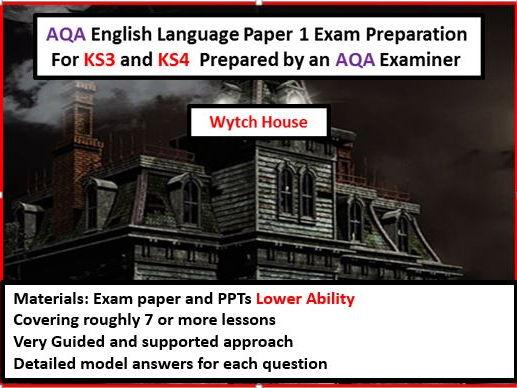 AQA GCSE English Language Paper 1 Exam Preparation For KS3 and KS4--Lower Ability