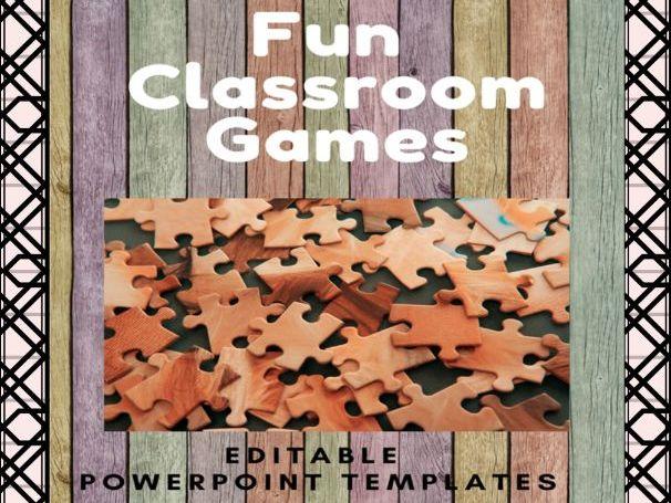 Fun Classroom Games - Editable Powerpoint Templates