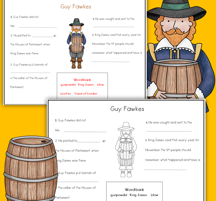 Guy Fawkes And The Gunpowder Plot Writing Activity