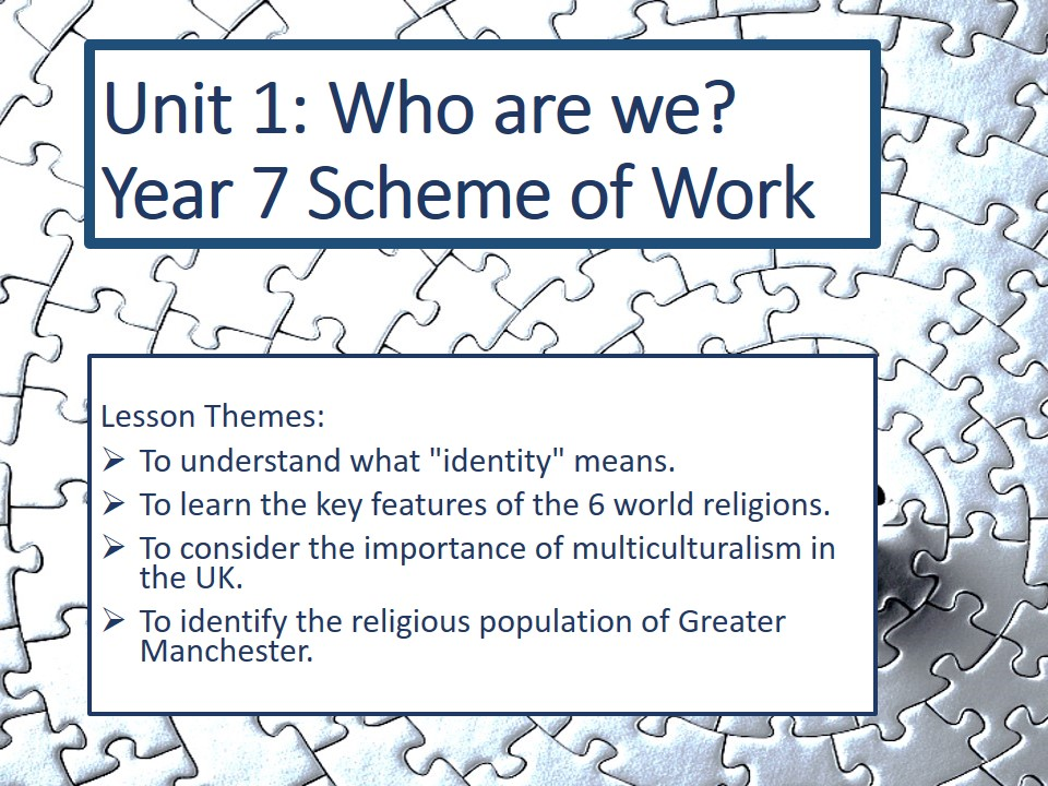 Who Are We? Introduction to Religious Education ENTIRE UNIT