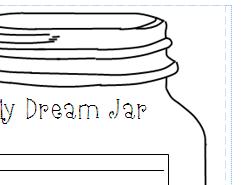 Dream Jar- Writing frame for display