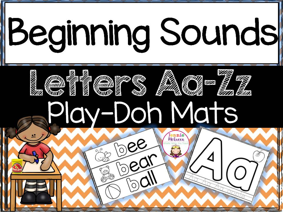 Alphabet and Beginning Sound Play Doh Mats