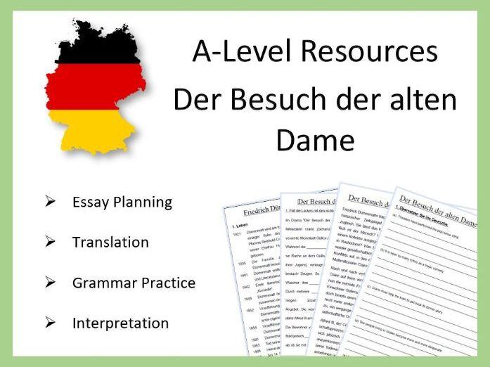 A2 German: Der Besuch der alten Dame - Practice and Revision