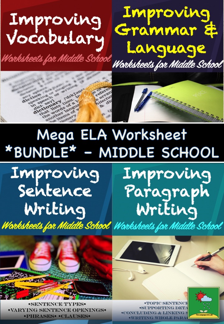 Language Arts Worksheet BUNDLE *100+ Worksheets*