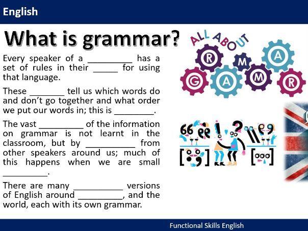 Functional Skills English - Grammar