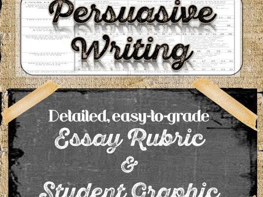 PERSUASIVE Essay: Teacher's Rubric and Student Graphic Organizer