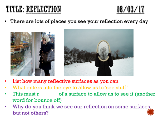 Reflection - complete lesson (KS3)