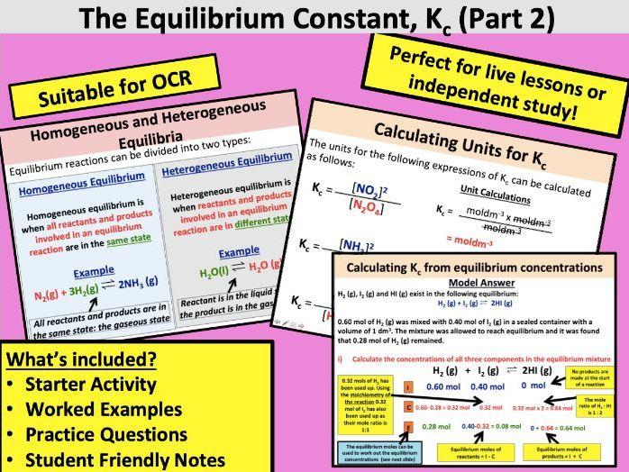 The Equilibrium Constant Kc (Part 2)